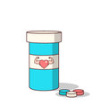 Isolated cartoon viagra drugs for making love stro vector image vector image