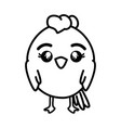 isolated cute standing chicken vector image vector image