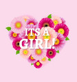 its a girl post card vector image vector image