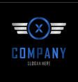 letter x automotive creative business logo vector image vector image