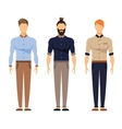 Men in office clothes Casual Outfit Business vector image vector image