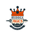 middle ages logo original premium quality vector image