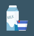 milk diary product in package vector image vector image