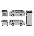 minibus mockup isolated vehicle template vector image vector image