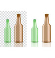 mock up realistic glass transparent alcohol vector image vector image