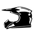 motorcycle helmet icon simple black style vector image