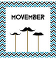 movember mens health month cancer awareness vector image vector image