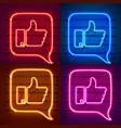 neon sign color set template design element vector image vector image