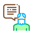 old man speaking icon outline vector image vector image