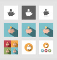 piggy bank icon set vector image vector image