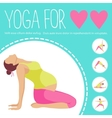 Pregnant woman doing exercise Variants of poses vector image vector image