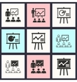 Presentation icon set vector image vector image