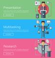 Presentation Multitasking Research Flat Design vector image vector image