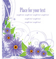 Purple Floral Background with Text Space vector image vector image