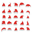 santa claus red cartoon hats vector image vector image