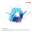 santa hat icon - watercolor background vector image vector image