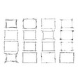 set of frames rectangles for image hand vector image
