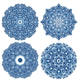 Set of mandalas in gzhel style vector image