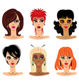 set of woman portraits vector image