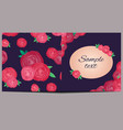 template of square greeting card with roses and vector image vector image