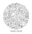 travel cruise thin line concept vector image vector image