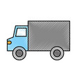 truck vehicle transport supermarket delivery icon vector image vector image