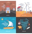 Wind Energy Flat Concept vector image