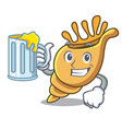 with juice exotic shell mascot cartoon vector image