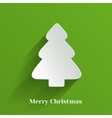 Creative White Christmas Tree vector image