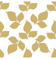 decorative leaf seamless pattern vector image
