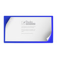 white paper banner background for advertising and vector image