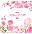 Vintage Flower Card vector image