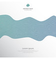 abstract blue lines wave pattern on white vector image vector image