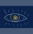 abstract eye sketch vector image vector image