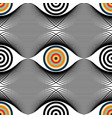 abstract seamless op art pattern black and vector image