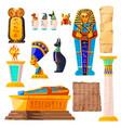 ancient egypt cartoon set vector image