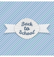 Back to School paper Emblem with Ribbon vector image