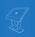 blueprint of promotional information kiosk vector image vector image