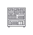 bookcase line icon concept bookcase linear vector image vector image