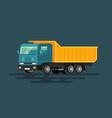 bulldozer flat cartoon style vector image vector image