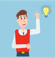 business people student has an idea character vector image
