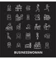 business woman editable line icons set on vector image vector image