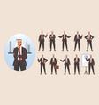 businessman arab character avatar design set