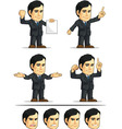 Businessman or Company Executive Customizable 7 vector image vector image