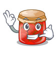 call me strawberry jam glass isolated on cartoon vector image