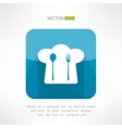 Chief cook hat icon with fork and spoon in modern vector image vector image