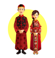 Chinese Marriage Wedding Outfit Ceremony vector image vector image