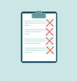 clipboard with red crosses vector image