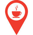 coffee shop location pin isolated icon design vector image