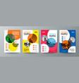 collection modern design poster flyer brochure vector image